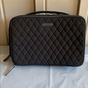 Vera Bradley Black Iconic Large Blush & Brush Case